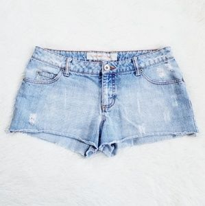 Mossimo Stonewashed Distressed Cut Off Shorts